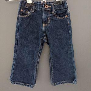 Oshkosh B'gosh dark boot cut denim blue jeans